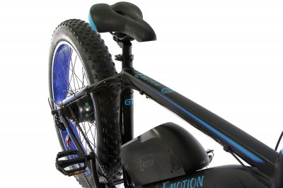 "Электровелосипед E-motion Fatbike GT 48V 15Ah 1000W 26"" / рама 19"" чёрно-синий (EFBGT48151000-BB)"