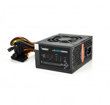 Блок питания Merlion 600W 12cm Black + кабель питания PS-600W/12