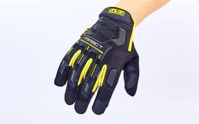 Перчатки тактические с закрытыми пальцами MECHANIX BC-5629 Черный-желтый XL (MR03960)