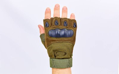 Перчатки тактические с открытыми пальцами и усил. протектор OAKLEY BC-4624 Оливковый М (MR03925)