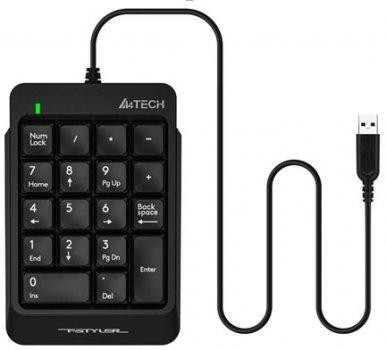 Клавіатура дротова A4Tech FK13P USB Black (4711421951210)