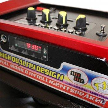 Акустична система NNS валізу комбік Bluetooth колонка підсилювач з мікрофоном Original Чорна (1389) TRG-7850