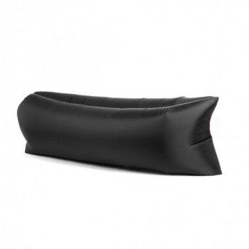Надувной матрас-диван HPI 2,2 м с сумкой-чехлом Black