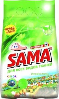 Порошок пральний SAMA Весняні квіти безфосфатний автомат 3 кг (4820020266752)