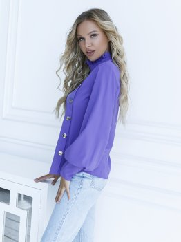 Блузка ISSA PLUS SA-10 Фіолетова