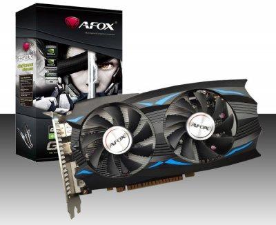 AFOX PCI-Ex GeForce GTX 1050 Ti 4GB GDDR5 (128bit) (1392/7008) (DVI, HDMI, DisplayPort) (AF1050TI-4096D5H5)