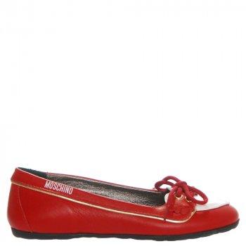 Балетки Moschino 25214 червоно-білі червоний