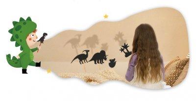 """Театр тіней 12 фігурок Mideer """"Динозаври"""" () (8463)"""
