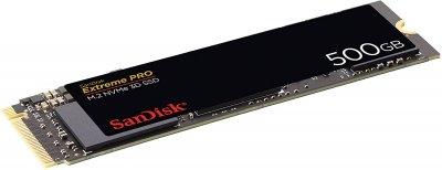 SanDisk Extreme PRO 500GB NVMe M.2 2280 PCIe 3.0 x4 3D NAND TLC (SDSSDXPM2-500G-G25)
