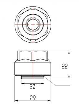 "Євроконус ICMA 20x3/4"" (81101BQ06)"