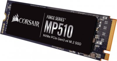 Corsair Force Series MP510 480GB NVMe M.2 2280 PCIe 3.0 x4 3D NAND TLC (CSSD-F480GBMP510B)