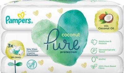 Дитячі вологі серветки Pampers Pure Coconut 126 шт. (8001841708942)
