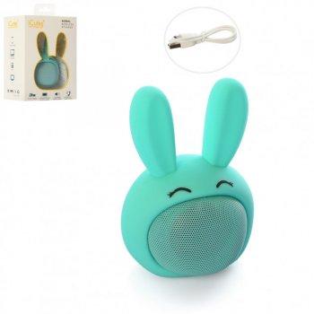 Колонка Bluetooth Bambi для дітей Зайчик, синій , iCutes (MB-M815)