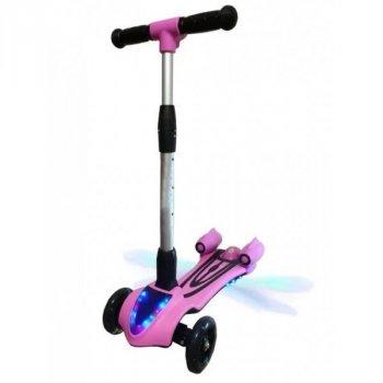 Турбосамокат детский Racer Pro самокат с дымом и музыкой Розовый