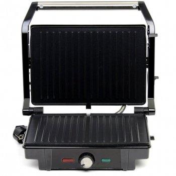 Гриль електричний для будинку контактний притискної барбекю з терморегулятором Rainberg RB-5403 2500W Чорний