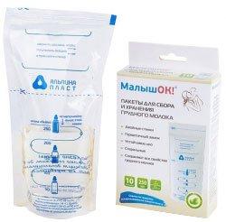Пакети для збору і зберігання грудного молока Альпіна Пласт №20 20 шт (4607046744408)