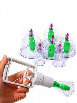Антицеллюлитные вакуумные банки для массажа набор из 12 штук
