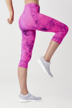 Леггинсы 3/4 женские SPAIO Fitness W01 розовый флуо