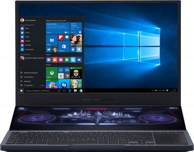 Ноутбук Asus ROG Zephyrus Duo 15 GX550LXS-HC068R (90NR02Z1-M03440) Gunmetal Gray + фірмовий рюкзак і мишка