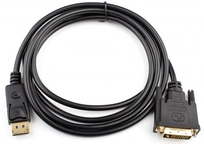 Кабель Atcom DVI-DIsplayport 1080P 1.8 м Чорний (9504)