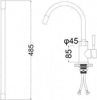 Кухонний змішувач SILVER Basis SLIN0484BL