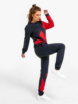Спортивний костюм ISSA PLUS SA-25 Чорний з червоним