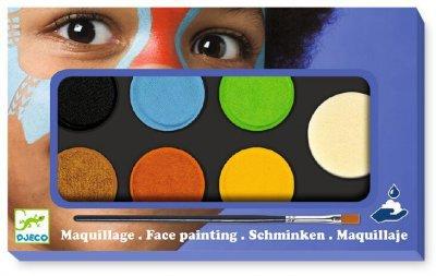 Грим для лица Djeco палитра 6 цветов Природа (DJ09230) (3070900092303)