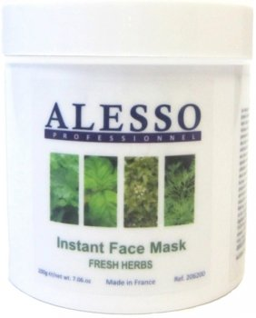 Растворимая маска для лица Alesso Свежие Травы противовоспалительная 200 г (3273629206437)