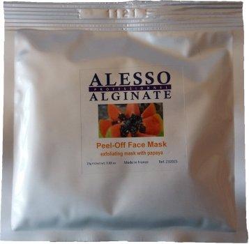 Альгинатная маска для лица Alesso с Папайей глубоко очищающая и отшелушивающая 25 г (3273629232177)