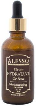 Сыворотка для лица Alesso 3.7 Розовое Золото увлажняющая для сухой и обезвоженной кожи 50 мл (3273629357252)