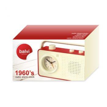 Радіо-будильник Balvi 1960's червоний