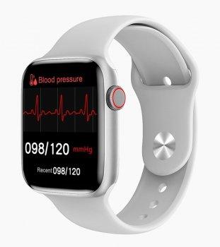 Смарт годинник Розумні годинник Smart Tech Innovation W26 Pro Жіночі Телефон Тонометр ЕКГ Термометр Лічильник калорій Silver-White