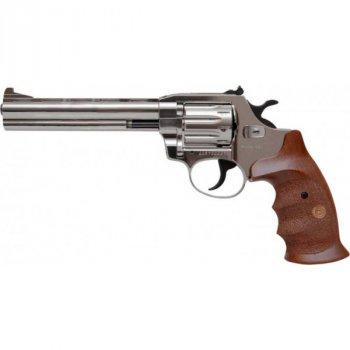 """Револьвер флобера Alfa mod.461 6"""" 4 мм №9. Никель. Дерево"""