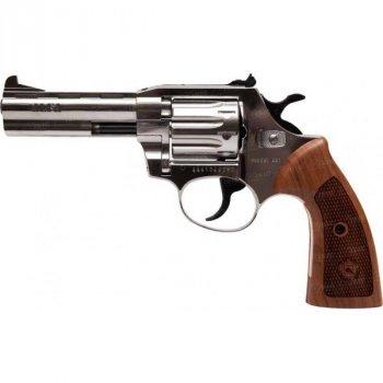 """Револьвер флобера Alfa mod.441 4"""" 4 мм №11. Нікель. Дерево"""