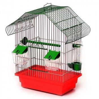 Клетка для птиц Лорі Малый Китай 40 х 28 х 18 см Красная (ПФ-23485)