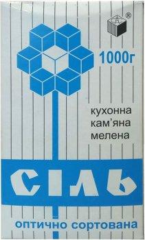 Упаковка соли поваренной Артемсоль каменной молотой 1 кг х 15 шт (4820002271729)