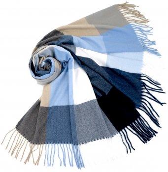 Палантин SumWin Скай-клетка 185 х 75 см Синий/Голубой