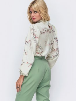 Блузка Dressa 49925 Зелена