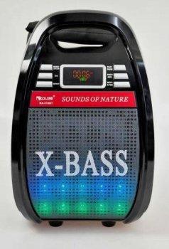 Колонка комбик Bluetooth mp3 радиомикрофон пульт цветомузыка Golon RX-810 BT (gr006277)