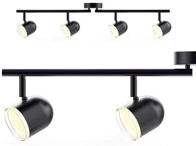 Спотовий світильник MAXUS MSL-01C 4x4W 4100K чорний (4-MSL-11641-CB)