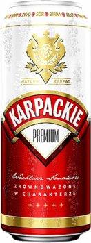 Упаковка пива Karpackie Premium светлое фильтрованное 5% 0.5 л х 24 шт (5900535001501G)