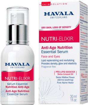 Сыворотка-бустер для лица и области вокруг глаз Mavala Nutri-Elixir Anti-Age Nutrition Essential Serum Антивозрастная Питательная 30 мл (7618900570016)