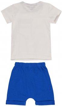 Костюм (футболка + шорты) Jikko Baby 1265438 Белый с синим
