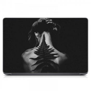 """Универсальная наклейка на ноутбук 15.6""""-13.3"""" 380х250 мм 3D Тату Матовая"""