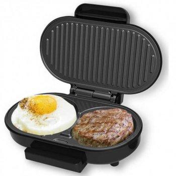 Гриль-котлетница DSP KC11240 для гамбургерів для сніданків, 750 Вт, чорна,для смаження котлет