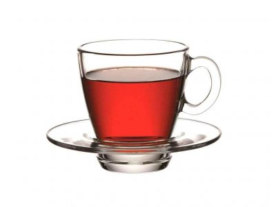Набор чашек для чая Pasabahce Aqua с блюдцем 210 мл упаковка 6 шт
