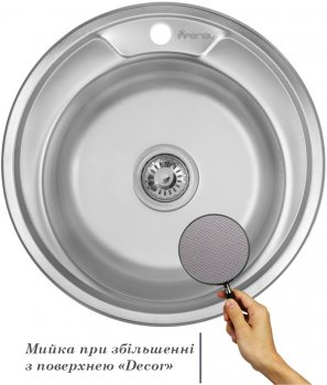 Кухонная мойка IMPERIAL 490-A Decor IMP490А06DEC
