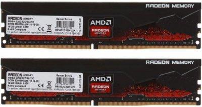 Оперативная память AMD DDR4-3200 32768MB PC4-25600 (Kit of 2x16384) Radeon R9 (R9S432G3206U2K)