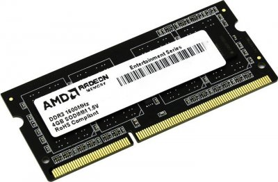 Оперативна пам'ять AMD SODIMM DDR3-1600 2048 MB PC3-12800 (R532G1601S1S-U)