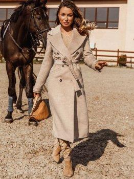 Пальто Gepur 33936 Бежеве